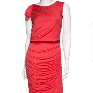 Giambattista Valli Red Slevelees Dress